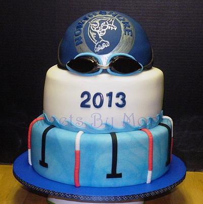 NHS Panthers Swim Team Banquet - Cake by Sweets By Monica