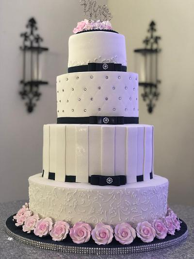 Navy Blue Bands - Cake by MsTreatz