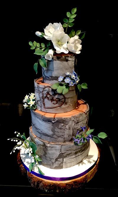Woodland wedding cake - Cake by TheArtofCakes