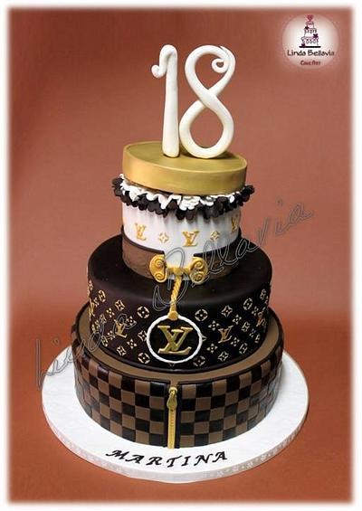 Louis Vuitton cake and dessert table - Cake by Linda Bellavia Cake Art