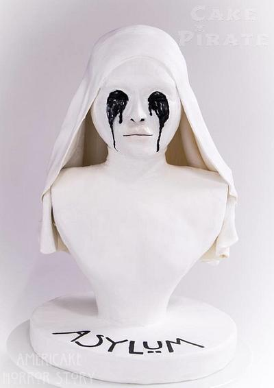Americake Horror Story - White Nun Buste - Cake by Cake Pirate