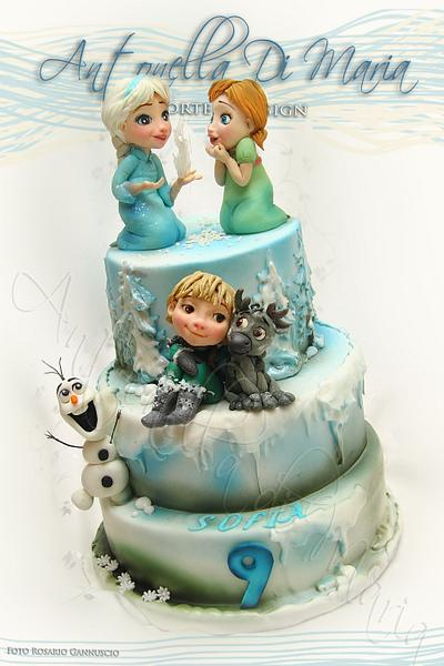 Frozen children birthday cake - Cake by Antonella Di Maria