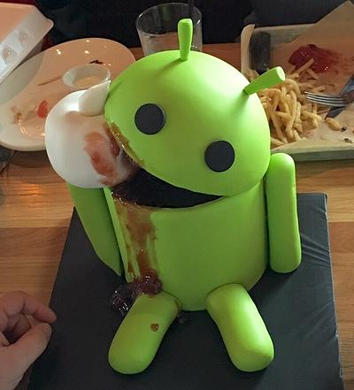 Android Eats Apple - Cake by Sweets By Monica