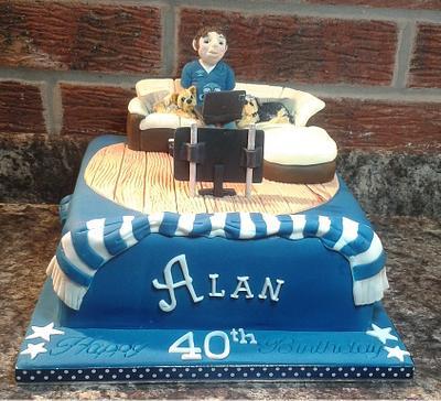 Everton cake - Cake by Karen's Kakery