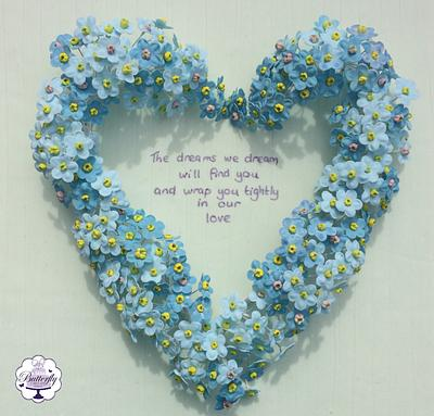 Forget me not - Too Beautiful for Earth Collaboration - Cake by Butterfly Cakes and Bakes