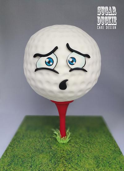 Anxious Golf Ball Cake - Cake by Sugar Duckie (Maria McDonald)