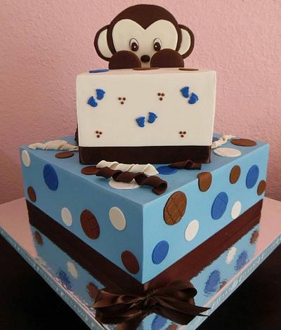 Monkey baby shower cake - Cake by Rosa