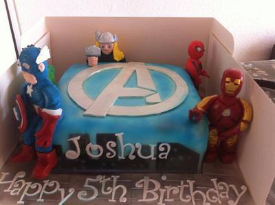 avengers - Cake by Amanda Forrester