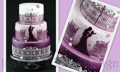 wedding in lilac cake - Cake by Martina Sille