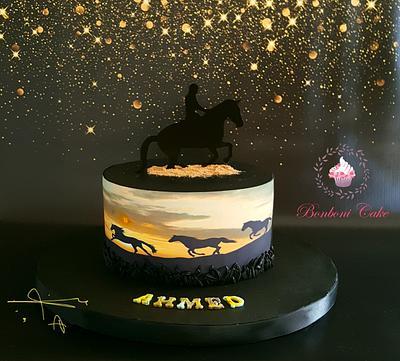 Black horse - Cake by mona ghobara/Bonboni Cake