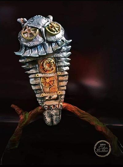 Caker Buddies Metallics Theme Collaboration - Owl of Athena - Cake by GorgeousCakesBLR