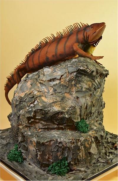 Reptile Trio - Iguana - Cake by Jenniffer White