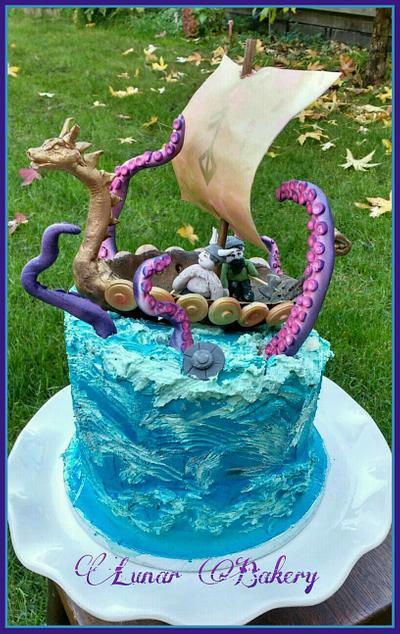 The Kraken ( Viking Cake ) - Cake by Lunar Bakery