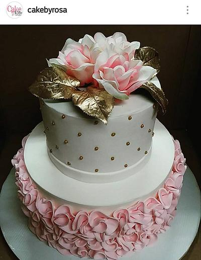 Pink roses cake - Cake by Rosa