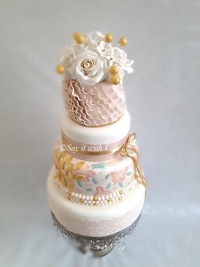 Paint, Ruffles and Roses - Cake by Say it with Cakes