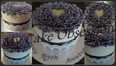 70th Wedding Anniversary cake - Cake by My Cake Obsession