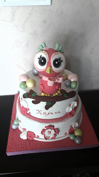 Owl cake - Cake by Svilena Balevska