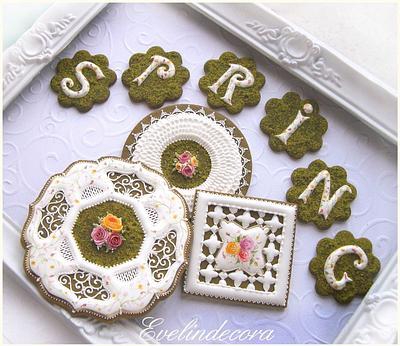 Spring cookies - Cake by Evelindecora