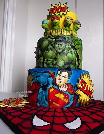 Superhero Birthday Cake - Cake by Calli Creations
