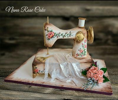Sewing Machine ....love is sugar Art Collaboration  - Cake by Nana Rose Cake