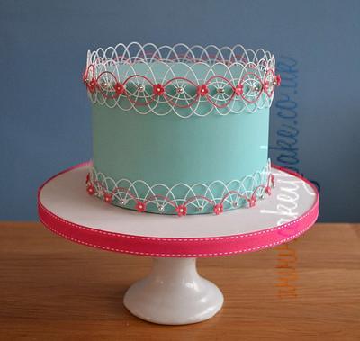 Oriental Stringwork Cake - Cake by CakeyBake (Kirsty Low)