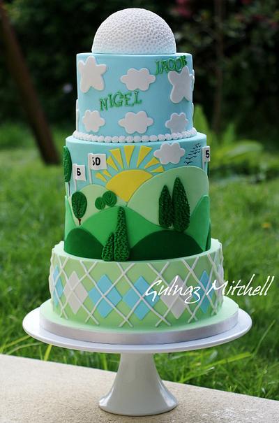 Golf cake - Cake by Gulnaz Mitchell