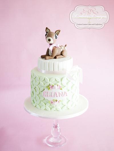 Pretty Spring Fawn - Cake by Delicia Designs