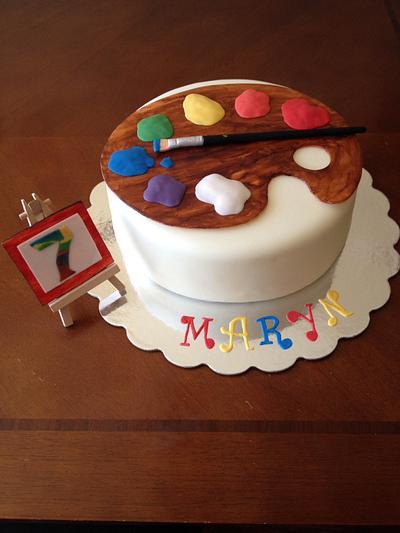 Artist palette cake - Cake by Daniele Altimus