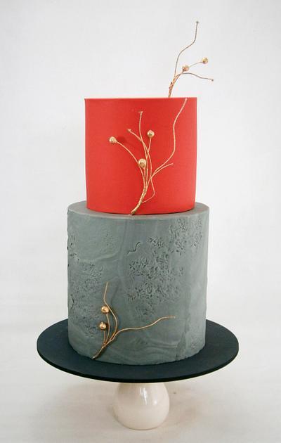 Texturas y colores modernos - Cake by Natalia Casaballe