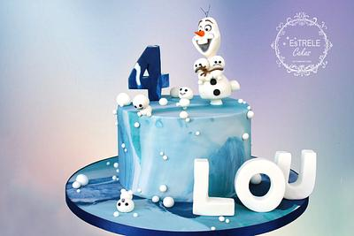 Olaf and Brothers - Cake by Estrele Cakes