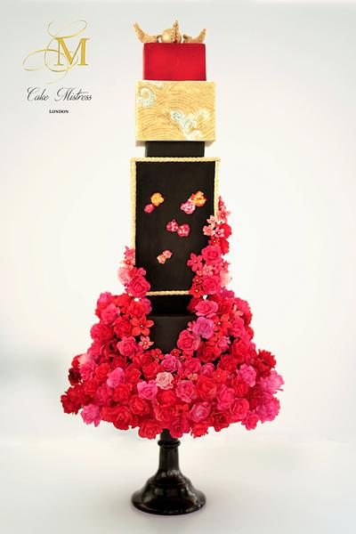 Chinese Bridal Cake - Brides Around The World Collaboration - Cake by Nuria Moragrega - Cake Mistress
