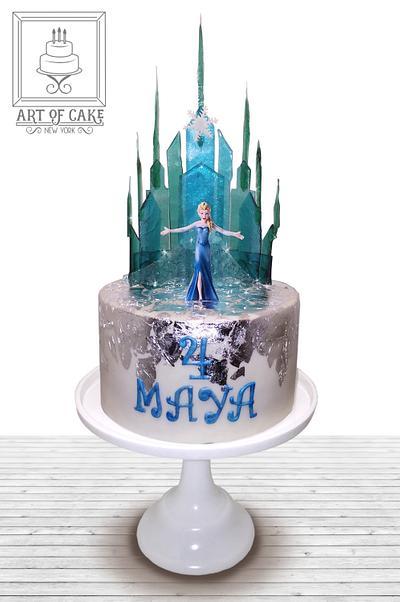 Elsa Frozen Castle Cake - Cake by Akademia Tortu - Magda Kubiś