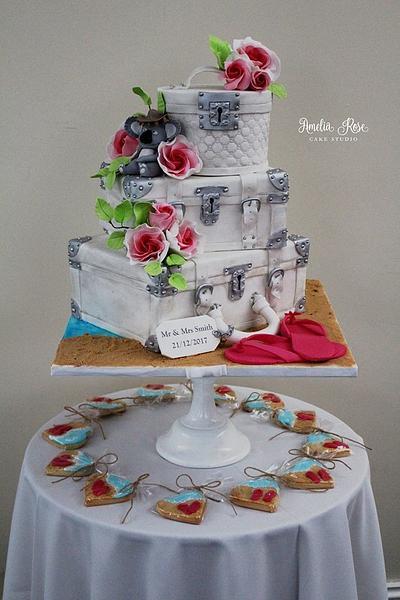 Suitcase wedding cake - Cake by Amelia Rose Cake Studio