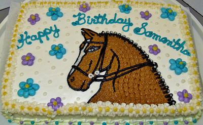 Dressage Horse Cake in 100% Buttercream - Cake by Nancys Fancys Cakes & Catering (Nancy Goolsby)