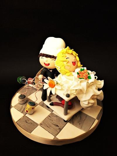 Wedding day in the kitchen 😂😂😂 - Cake by Clara