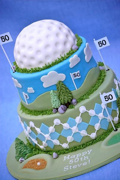 50th Golf Cake - Cake by Lesley Wright