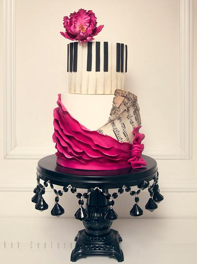 Piano Cake - Cake by Kek Couture