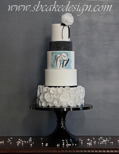 """The Kiss"" Wedding Cake - Cake by Shannon Bond Cake Design"