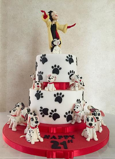 21 Dalmations - Cake by Thesugarboxcakeco
