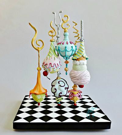 Twisted Treats Collaboration a coloring book by Colette Peters, pg. 30 - Cake by Jeanne Winslow