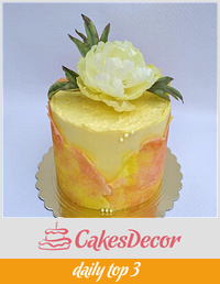 Cake in yellow