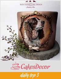 Handpainted dog cake