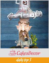 Mushroom Pipe sculpture cake