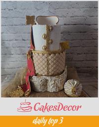 Indian Wedding Dress Cake