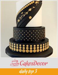 'Kalyani' - My Elegant Indian Fashion Collab Cake