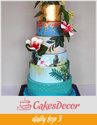 Hummingbirds Cake for Cake International 2014 - Gold award