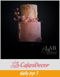 stone-age moody wedding cake
