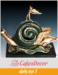 The Snail and The Angel - Dali in Sugar Collaboration