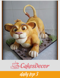 Lion cub cake