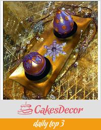 Christmas bauble themed Temari Cakes